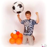 Jochem met voetbal deco