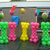 Pilaren Smiley met Heliumtop