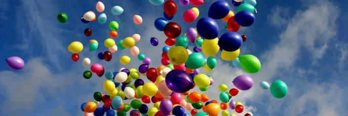 ballonnen op weg naar de zon